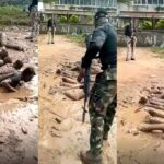 Soldiers flog and punish curfew violators caught in Ilesha, Osun State (photos & video)