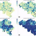 Map shows how coronavirus covered Belgium in 6 weeks
