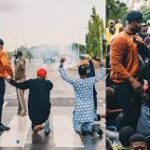 Davido joins EndSARS protest in Abuja, secures the release of protesters (photos & video)