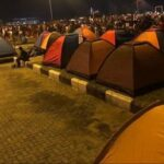 Camping Tents Set Up For Overnight #EndSARS Protesters (photos)