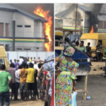 #EndSARS: Another Police station burnt down in Lagos (Photos & Video)
