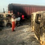 Over 30 vehicles razed in tanker accident on Lagos-Ibadan Expressway (photos)