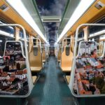In Photos: STIB covers old metro carriages with Brussels landmarks