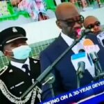 Obaseki's ADC Collapses At His Swearing In Ceremony (Video)