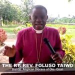 Anglican Bishop of Oke-Osun Diocese Foluso Taiwo Is dead
