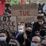Protesters take to streets across France over controversial National Security law
