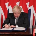Boris Johnson signs post-Brexit agreement with the EU