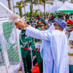 Drama As Pigeons Released By Buhari Refuse To Fly At Armed Forces Remembrance [Video]