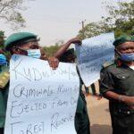 BREAKING: Protest Rocks Akure Over Akeredolu's Vacation Order
