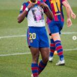 PHotos: Female Footballer, Asisat Oshola Pulls Shirt On Field To Honour Late Mom