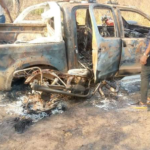 Herdsmen Kill Two, Burn Amotekun Vehicle In Ondo (graphic photos)