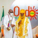PHOTOS: Battle against criminals: Ohinoyi of Ebiraland presents royal sword to Akeredolu