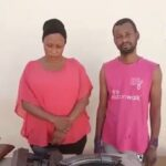 VIDEO: Lady And Her Lover Caught During Robbery Operation, AK-47 And Locally Made Pistols Recovered