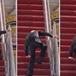 VIDEO: Moment Joe Biden Fell While Boarding Air Force One