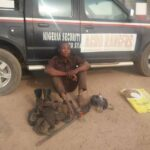 PHOTOS: NSCDC Arrests Man Over Alleged Attack On Fulani Settlement In Ogbomoso