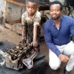 PHOTOS: Man Meets A 6-Year-Old Auto Mechanic In Benin