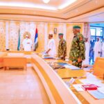 Photos: President Buhari Holds Security Meeting With Service Chiefs, Others