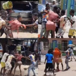 Photos: Popular Cross Dresser Attacked And Beaten Mercilessly By Area Boys For Doing This In Lagos