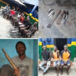 PHOTOS: Traffic Robbers Arrested, Weapons Recovered By Police In Lagos