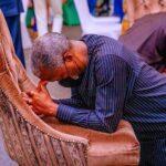 PHOTOS: Prayers Doesn't Solve Problem -Vice President, Yemi Osinbajo Mocked For Kneeling Down To Pray For Nigeria