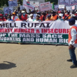 NLC Members Storm To The Street To Protest Over Mass Sack Of Workers In Kaduna (Photos)