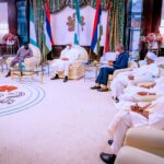 Photos: Jonathan Meets Buhari At The Aso Rock Villa In Abuja