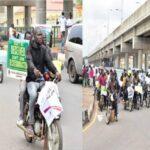 Photos: Protest rocks Ekiti as anti-secessionists tackle Igboho, Kanu