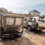 Anambra Attack Update: 7 INEC Vans, Collation Centre, Store Burnt (Photos)