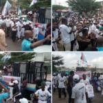 PHOTOS & VIDEO: Panic as Yoruba Nation protest kicks off in Osogbo