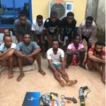 Photos: Eleven Suspected Cultists Arrested In Delta