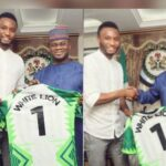 Former Super Eagles Captain, Mikel Obi Meets Gov Yahaya Bello