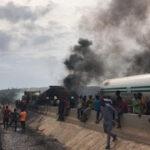Photos: 13 vehicles burnt in tanker explosion on Lagos-Ibadan expressway – FRSC