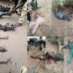 Photos: Troops Kill 20 Boko Haram/ISWAP Terrorists In Lambom Forest