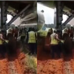 Photos & Video: Airplane Gets Stuck In Mud After Skidding Off Runway In Murtala Muhammed Airport Lagos