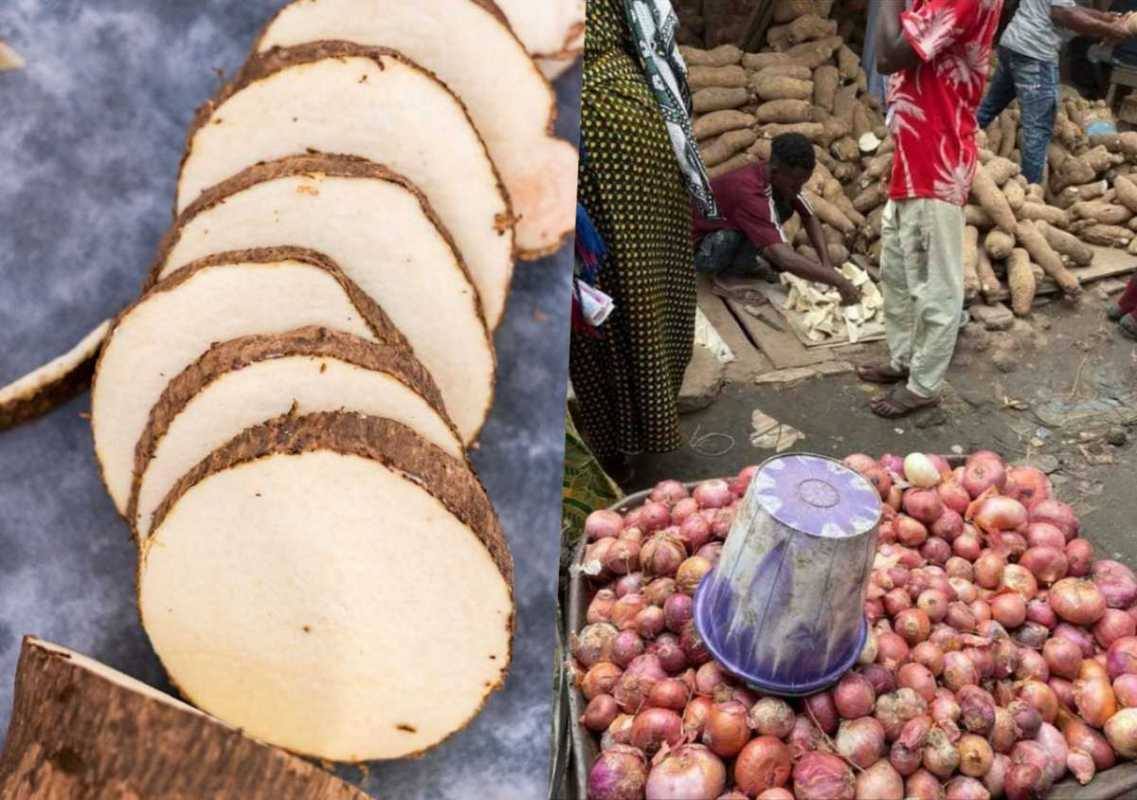Photos: Slices Of Yam Sold In Nigerian Market As Food Prices Increase – OGPNEWS