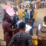 BREAKING: Protesters shutdown Ibadan, demand immediate release of Igboho [PHOTOS]