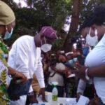 Lagos LG Polls: Sanwo-Olu, Wife, Ibijoke Cast Votes (Photos)