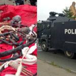 Police Recover Arms, Charms From Yoruba Nation Lagos Rally Protesters (photos)