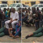 Lagos police parade 49 suspects arrested at Yoruba Nation rally (photos)