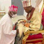 Obasanjo Kneels Before New Olu Of Warri, Makes Request In His Speech