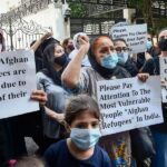 Afghans protest in New Delhi demanding refugee status