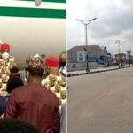 PHOTOS: Roads deserted, banks, others shut down as Buhari lands in Imo