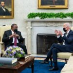 Biden promises more vaccines, ties for Africa as Kenya leader visits